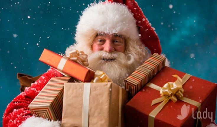 Дед мороз новый год подарок