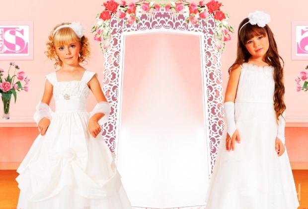 Стильные детские платья с камнями